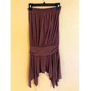 Charlotte Russe Brown Strapless Top size M/L